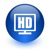 hd display computer icon on white background