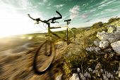 Mountain bike and sport.