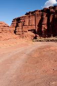 pic of off_road  - Shafer Trail Road and Mineral Road provide access from the main scenic drive atop the Island in the Sky mesa of Canyonlands National Park - JPG