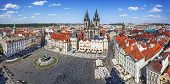 Panoramic view of the Old Town Square in Prague