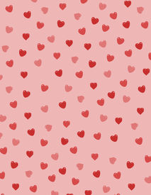 stock photo of valentine heart  - Background filled with red hearts - JPG