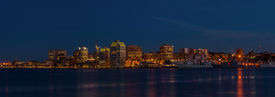 image of dartmouth  - Panorama of Halifax Nova Scotia at night  - JPG