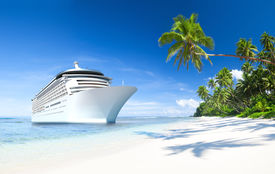 stock photo of passenger ship  - Cruise ship - JPG