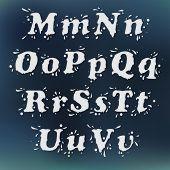 Milk Splash Font. Set Vol.2 M-u