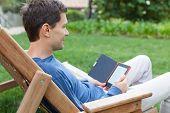 Relaxing Man Reading