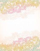 Oriental chrysanthemum flower borders