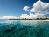 Tropical sea at sunny day near the island of Gili Trawangan, Indonesia
