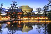 Nara, Japan at Todaiji Temple at twilight.