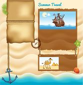 Background for travel template
