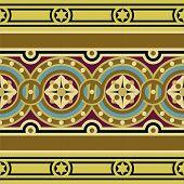 Vintage ornamental tile border set