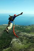 picture of sky diving  - jumping - JPG