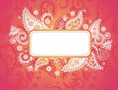 Funky pink Indian paisley banner