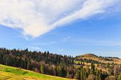 image of pieniny  - autumn mountain landscape, Pieniny mountains in Poland ** Note: Soft Focus at 100%, best at smaller sizes - JPG