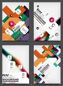 Set of Flyer Templates, Business Web Layouts, modern business web online layout