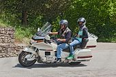 Bikers Riding Honda Goldwing 1500 6 Cylinder