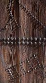 Door detail iron knobs