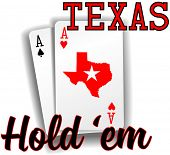 pic of ace spades  - Pair of aces as Texas Hold em winning poker hand cards - JPG
