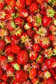 heap red strawberries, tasty background