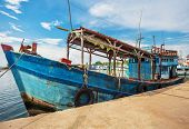 Fishing boats in port at Phu Quoc island. Vietnam