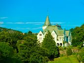BERGEN, NORWAY - JULY 22, 2014: Gamlehaugen is a mansion and the residence of the Royal Family