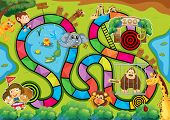 picture of zoo  - Board game with zoo theme - JPG