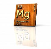 stock photo of mg  - Magnesium form Periodic Table of Elements  - JPG
