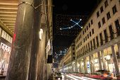 Light and Art in Roma Street, Turin