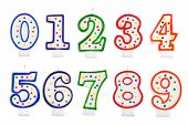 Birthday Candles Number Isolated