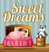 Poster giving a message of sweet dreams