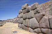 Massive Stone Inca Fortress Walls,