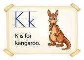 Poster of an alphabet K