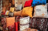 Colorful Cushions In Marrakesh, Morocco