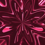 Abstract Metallic Flower In Purple Spectrum