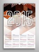 Calendar 2015, Triangle Geometric Pattern Template. Abstract Background Design, vector illustration