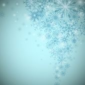 Christmas snowflake flow background with copy space.