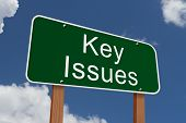 Key Issues Sign