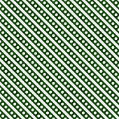 Hunter Green And White Small Polka Dots And Stripes Pattern Repeat Background