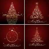 set of Christmas designs, vector