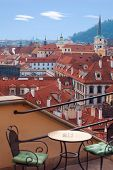 view over old town of  Prague
