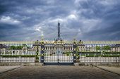 Gated Entrance To The Ecole Militaire In Paris, France