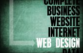 Web Design Core Principles as a Concept Abstract