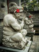 Ubud Stone Carving Pair