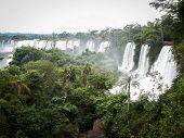 Row Of Waterfalls At Iguazu Falls