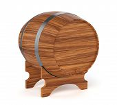 Wine Barrel Isolated