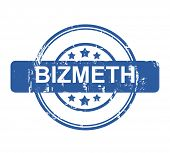 Bizmeth business concept stamp with stars isolated on a white background.