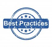 Best Practices business concept stamp with stars isolated on a white background.