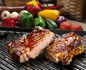 pic of ribeye steak  - Grilled beef steak - JPG