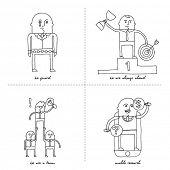Doodle set - business