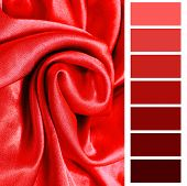red fabric closeup