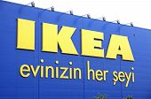 Logo Of Ikea Store In Istanbul